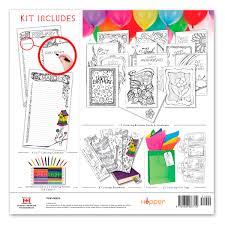 coloring birthday cards 2018 floral birthday coloring calendar kit birthday calendar