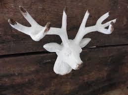 white deer head metal knob drawer pull cabinet rustic animal
