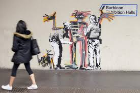 new banksy murals spring up in central london near barbican new banksy murals spring up in central london near barbican london evening standard
