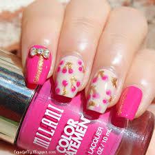 liquid jelly nail art refreshing cherry mani with bps bow charm