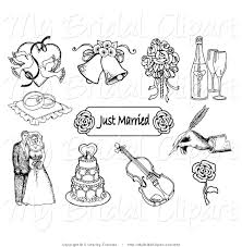 Wedding Ring Clipart by Champagne Glasses Black And White Clipart 18