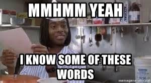 mmhmm yeah i know some of these words good burger meme generator