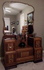 vanity dressing table with mirror waterfall vanity by ambersantiquesco on etsy 400 00 same applique