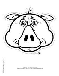 walrus mask color printable mask free download print