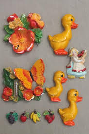 kitchen wall plaques vintage painted chalkware plaques retro kitchen wall lot
