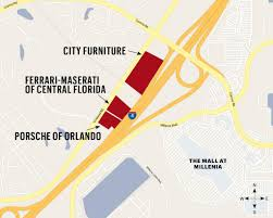 Orlando Map Store by City Furniture Buys Land Near Millenia Mall From Up Development