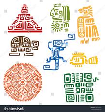 Aztec Mayan Inca Map Ancient Mayan Aztec Totems Religious Signs Stock Vector 343278044