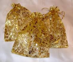 gold organza bags gold organza favour bags pack of 20