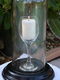 lamp centerpieces special wine glass in a bottle candle holder hurricane lamp