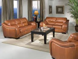 Livingroom Club Chestnut Leather Contemporary Living Room W Waterfall Arms