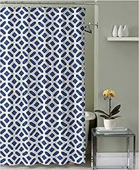 White Shower Curtains Fabric Navy And White Shower Curtain Interior Design