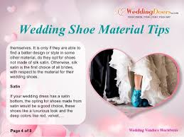 wedding shoes tips wedding shoe material tips