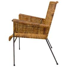 van keppel green iron and wicker lounge chair at 1stdibs