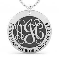 monogram necklace sterling silver follow your dreams monogram necklace sterling silver jeulia jewelry