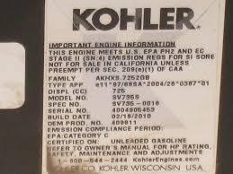owners manual for kohler 27 hp engine kohler courage sv735 26hp engine cam camshaft 32 012 01 s ebay