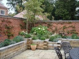 Garden Raised Beds Along Brick Walls For The Home Pinterest - Wall garden design