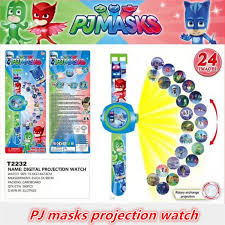 cartoon pj masks party 3d projection watch pjmasks toys characters