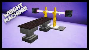 minecraft how to make a weights machine youtube
