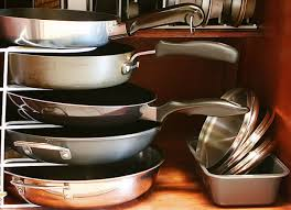 Kitchen Cabinet Interior Organizers by Organizer Pots And Pans Organizer For Accommodate Different Sizes