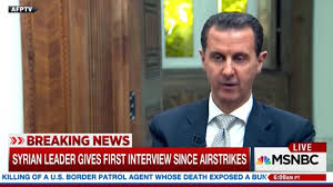 syrian president bashar al assad claimed during an interview aired
