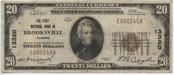twenty five dollars brooksville hometown currency