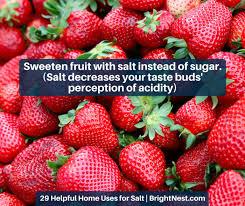 Strawberry Vase Sponge Brightnest 29 Helpful Home Uses For Salt