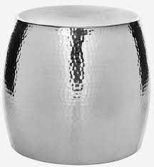 round silver accent table fox5504a accent tables furniture by safavieh