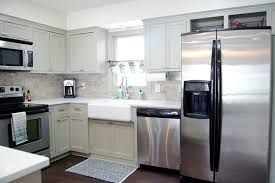 remodeled kitchen using original cabinets with diy custom doors