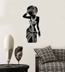 vinyl wall decal silhouette african woman africa ethnic stickers