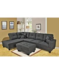 Sectional Sofa With Ottoman Find The Best Deals On Eternity Home Panama 3 Seated Left Facing L