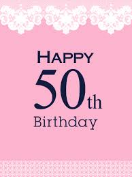 50th Birthday Cards For Happy 50th Birthday Card Birthday Greeting Cards By Davia