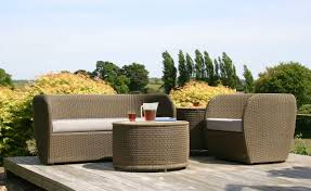 Furniture Comfortable Rattan Patio Furniture Brown Finish Wicker - Round outdoor sofa