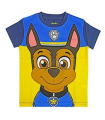 kids official paw patrol tshirt with mask craft dress up top shirt