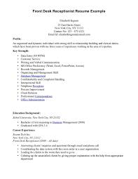 Sample Medical Secretary Resume by Front Desk Receptionist Resume Sample Resume For Your Job