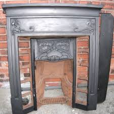 art nouveau cast iron fireplace price reduced from 185 to 150
