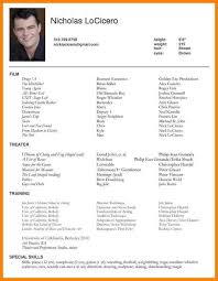 exles of actors resumes resume for actors 25 unique acting resume template ideas on