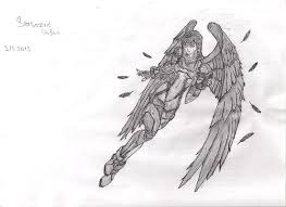 anime kinda angel pencil drawing by trixogeddon3 on deviantart