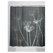 Gray And Brown Shower Curtain - thistle shower curtain interdesign target