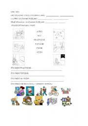 english worksheets day and night