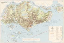 Singapore Map World by Singapore Topographical Map
