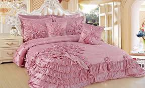 Ruffled Comforter Cute Pink Comforters For Teen Girls And Girly Ladies