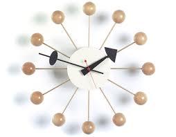 Herman Miller Clock George Nelson Ball Clock In Natural Beech Hivemodern Com