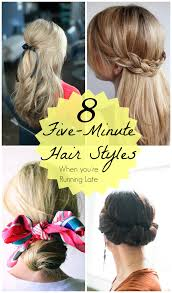 summer hairstyles for cute minute hairstyles running late minute