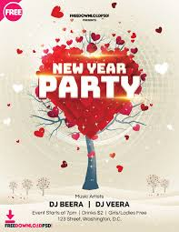 free new year party flyer template freedownloadpsd com