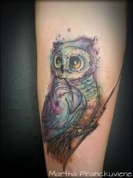watercolor owl owl tattoo watercolour owl tattoo my tattoo work