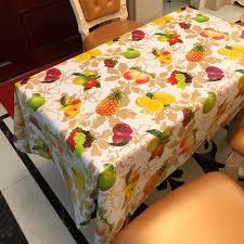 nappe cuisine plastique pvc table de fête tissu en plastique étanche oilproof toalhas de