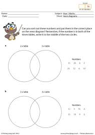 Times Tables Worksheet Primaryleap Co Uk Venn Diagrams 2 3 And 5 Times Table Worksheet