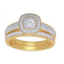 wedding rings nz 9ct diamond bridal engagement ring set 0 50ct engagement rings
