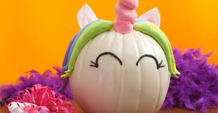 turn your simple pumpkin into a magical unicorn for halloween