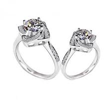 design an engagement ring square shape flower design wedding engagement rings for women